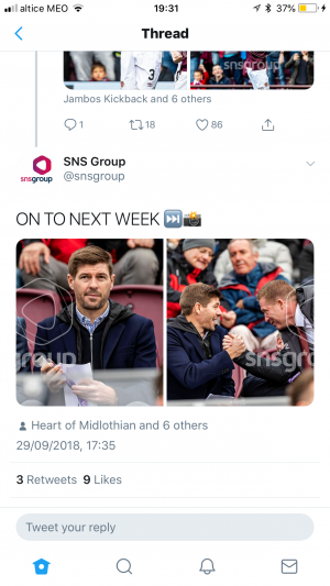 Stevie G at the Hearts game